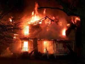 rêver de maison en feu.