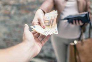 rêver de recevoir de l'argent.
